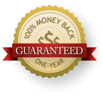 One-Year, 100% Money Back Guarantee